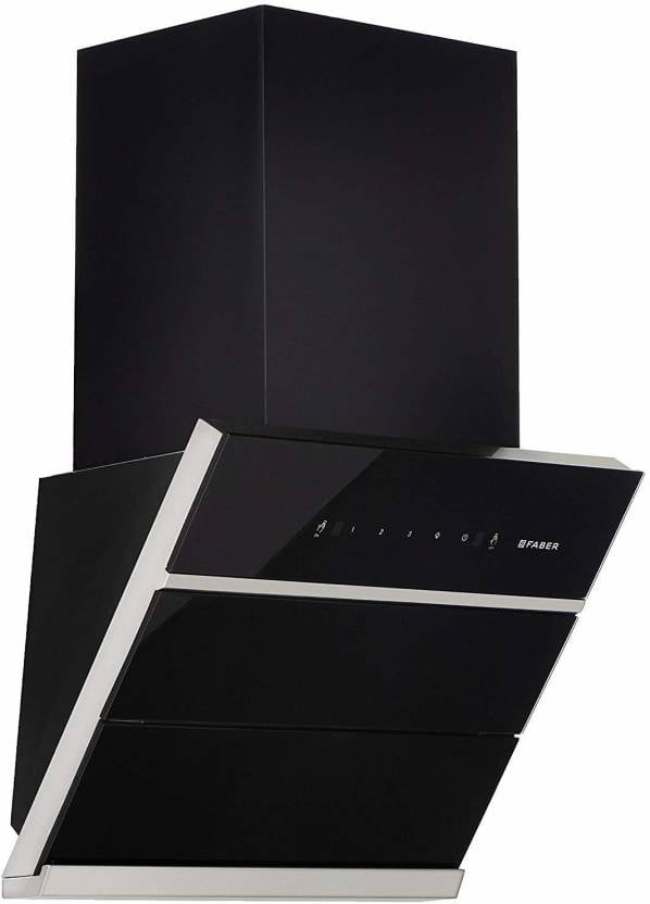 FABER 60 cm 1350 m3/hr Filterless (HOOD ZENITH FL SC BK 60, Auto Clean Wall Mounted Chimney in India