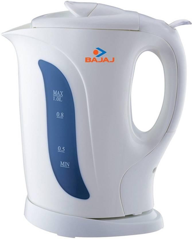 Buy Bajaj 1-Litre 1200-Watt Cordless Kettle, White online in India under 1500