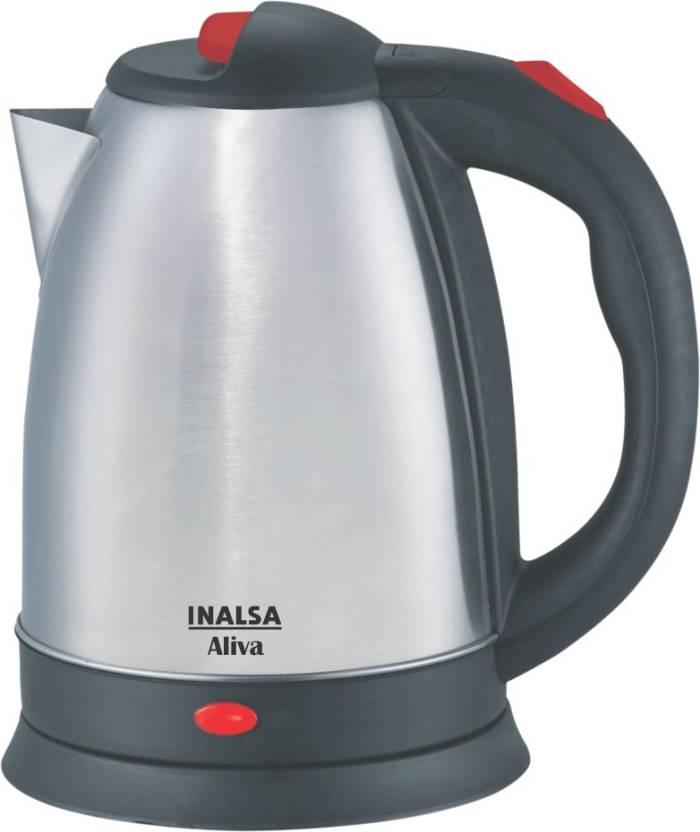 Buy Inalsa Aliva 1500 Watt Electric Kettle in 1.5-Litre (Black/Silver) online in India