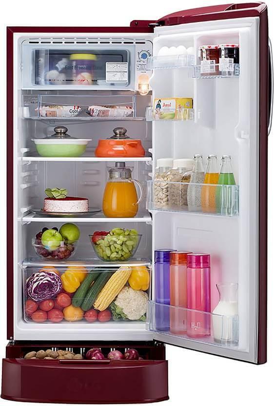 LG 190 L Single Door Refrigerator Storage